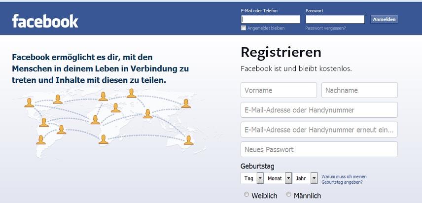 Vorsicht: Betrug bei Facebook möglich.