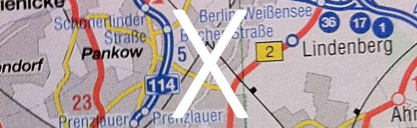 Detektive können für Sie eine Adresse herausfinden wie hier bei Berlin.
