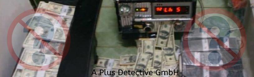 Vermeintliche Geldreinigungsmaschine eines Betrügers