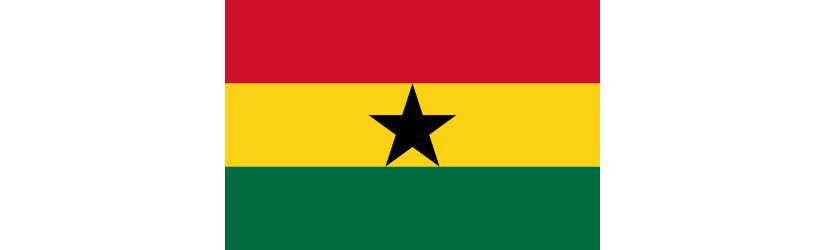 Flagge Ghana -. der angebliche Goldfund in Ghana