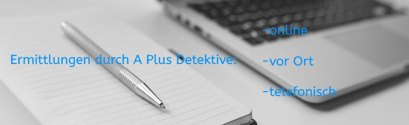 Ermittlungsarbeit durch Detektive: telefonisch, vor Ort oder online.