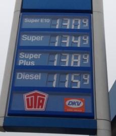 Kosteninformationen einer Tankstelle als Sinnbild für detektivarbeit
