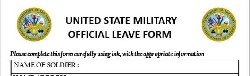 Us Army Urlaubsantrag