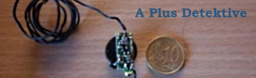 Verdacht auf Abhören bestätigt: Eine bei der Lauschabwehr gefundene Wanze im Größenvergleich mit einem 10 Cent Stück.
